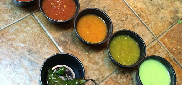 dishes of salsa