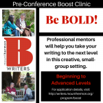 Be bold pre-conference logo