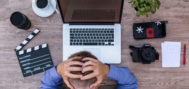 man tired of blogging