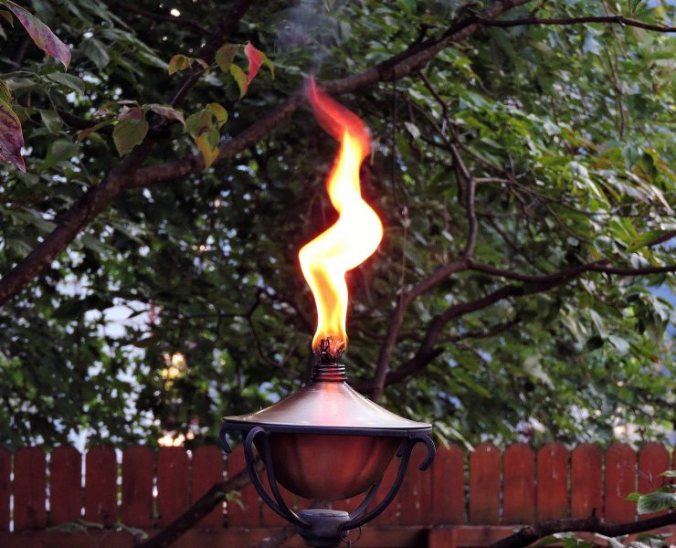 bruning flame on torch