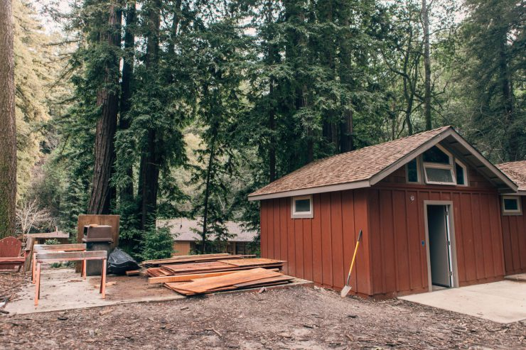 Redwood Camp cabin updates