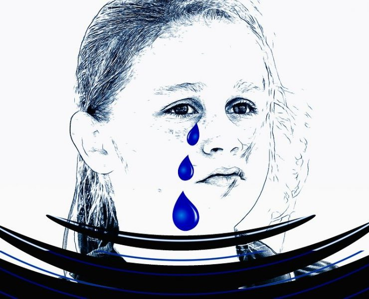 disappointed girl with tears