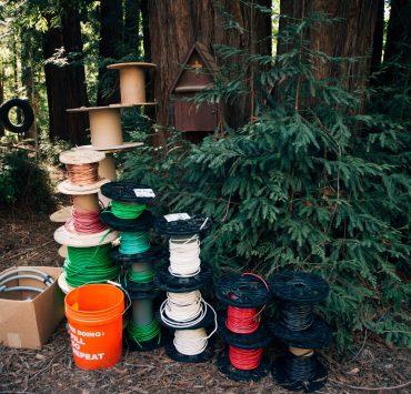 redwood, cabin, camp,