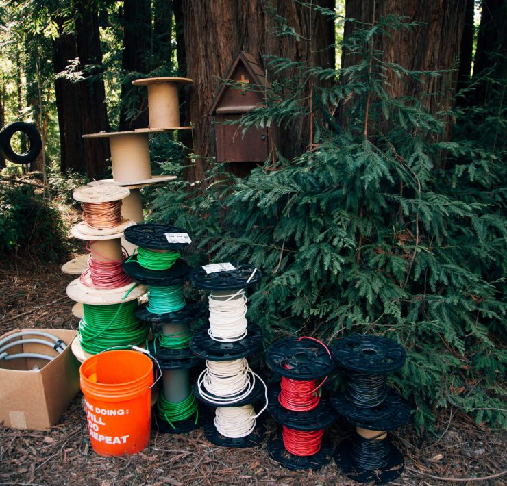 redwood, cabin, camp,