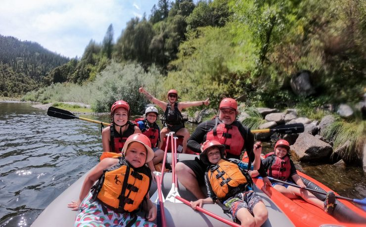 Rafting at Family Adventure Camp